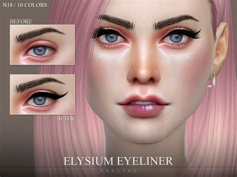 eyeliner sims cc elysium thesimsresource makeup female n18 category eyebrows lip tsr found colors pralinesims skin loading