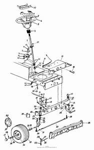 Mtd 13ah660f022  1999  Parts Diagram For Axle  Front  Steering Assembly  Wheels  Front