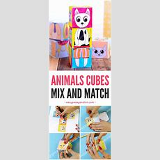 Printable Animals Mix And Match Cubes  Easy Peasy And Fun