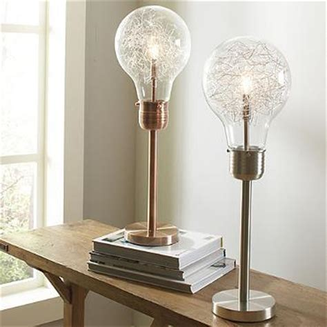 table l light bulb edison table l in bushed chrome or brushed copper