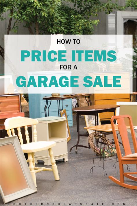 how to price garage items how to price items for a garage