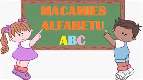 Mācāmies alfabētu. Latviešu alfabēts. Latvian alphabet ...