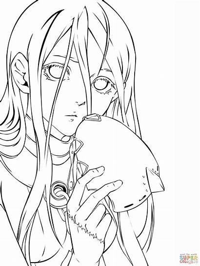 Coloring Anime Manga Pages Lineart Transparent Danganronpa