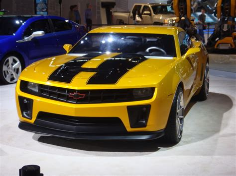 hot cars transformers chevrolet camaro bumblebee