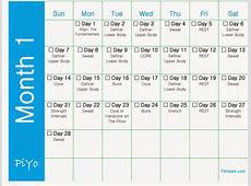 Piyo calendar Printable 2018 calendar Free Download USA