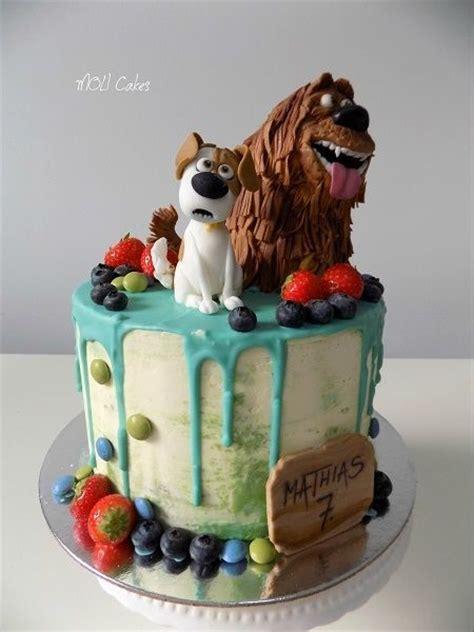 secret life  pets drip cake baby birthday cakes