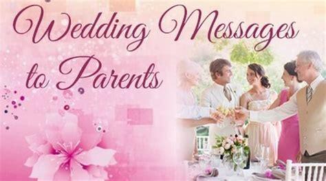 wedding message  parents wedding congratulations message  parents