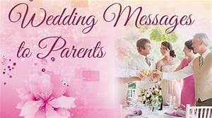wedding message to parents wedding congratulations With wedding cards messages from parents