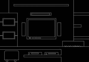 Plasma Tv Cabinet With Drawers DWG Elevation for AutoCAD
