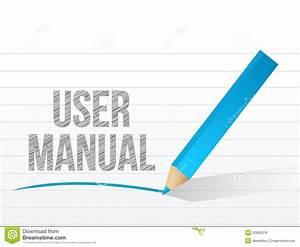 User Manual Written On A Notepad Paper Stock Illustration