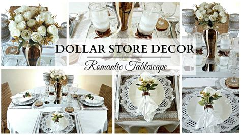 1 Dollar Home Decor : Neutral Romantic Tablescape