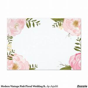modern vintage pink floral wedding blank card floral With blank chinese wedding invitations