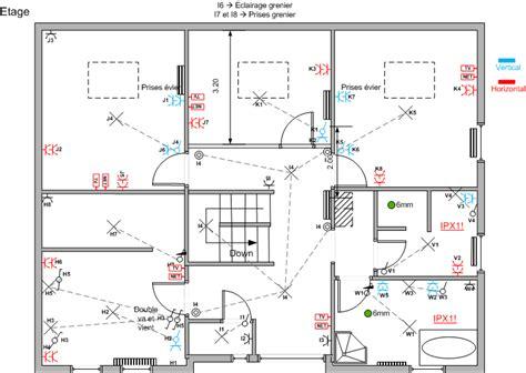 plan electrique chambre plan electricite maison gratuit 0 3 les plans
