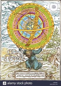 Ptolemaic System  Geocentric Model  1531 Stock Photo  135096328