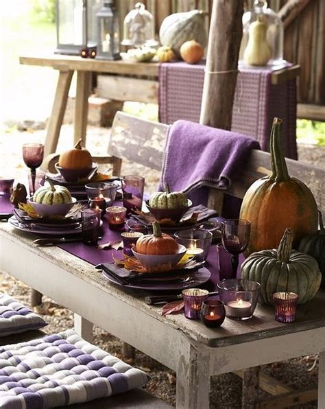 thanksgiving outdoor table decorations rustic styled outdoor thanksgiving table idea decoist