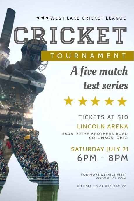 cricket tournament video ad template postermywall