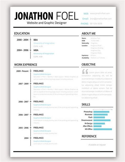 best resume format in the world