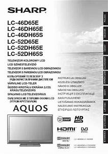 Sharp Lc 46dh65 Aquos Tv   Television Download Manual For