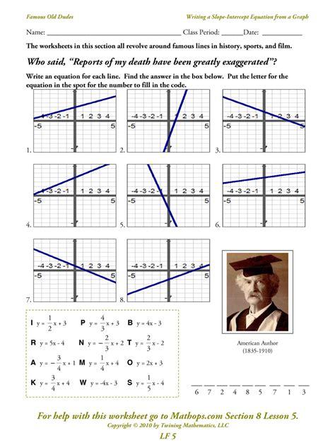 worksheet writing linear equations grass fedjp worksheet