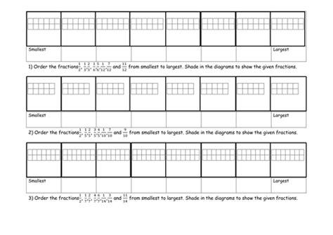 order fractions worksheet  sanfranciscolife ordering fraction activity and worksheet by jadnexus