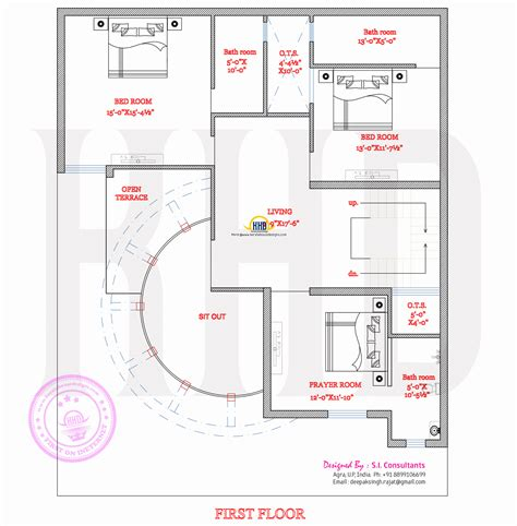 Modern house plan with round design element - Kerala home