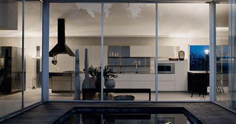white wallnut furniture kitchen large glass wall interior design ideas