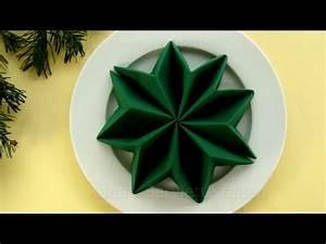Basteln Mit Servietten : servietten falten weihnachten weihnachtsstern anleitung weihnachtsdeko youtube ~ Buech-reservation.com Haus und Dekorationen