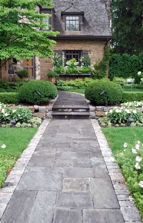 entrance walkway stone walkway entrance landscaping pinterest