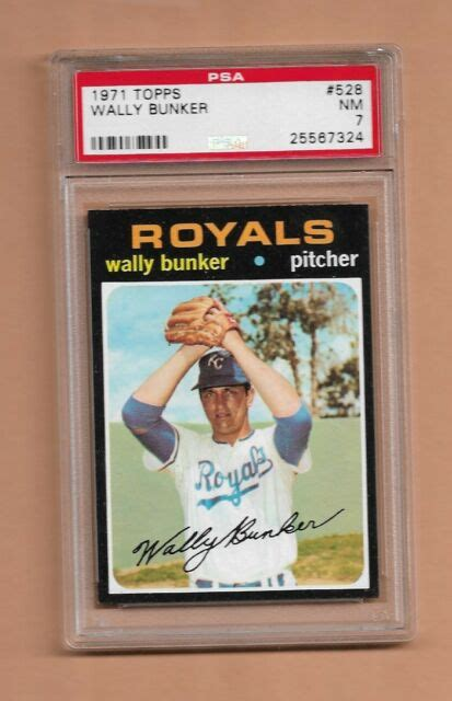 Subscribe subscribed unsubscribe 294 294. 1971 TOPPS WALLY BUNKER BASEBALL CARD #528 - GRADED NEAR ...