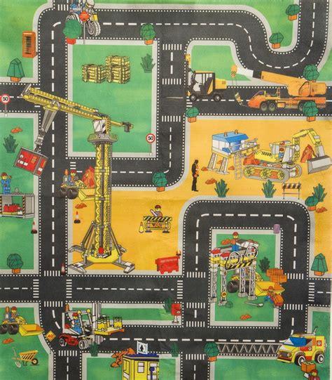 Mat Site - car road or construction playmat boys