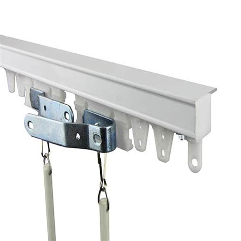 Commercial Drapery Hardware - commercial ceiling white 72 inch curtain track kit rod