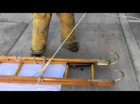 Fire Station 83-LAFD roof ladder knot - YouTube