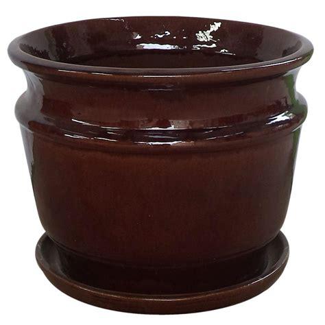 home depot planters pennington 11 5 in ceramic atlantis belfry planter
