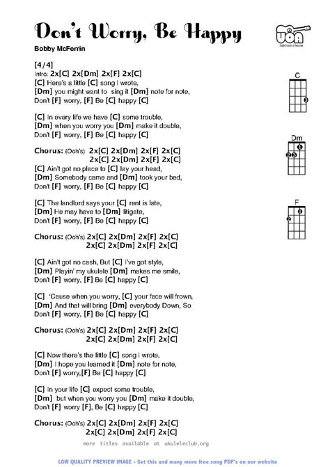 For Happy Birthday Chord Chart