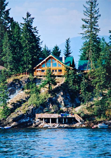work  play  rental cabins income property shuswap lake cottage north american log crafters