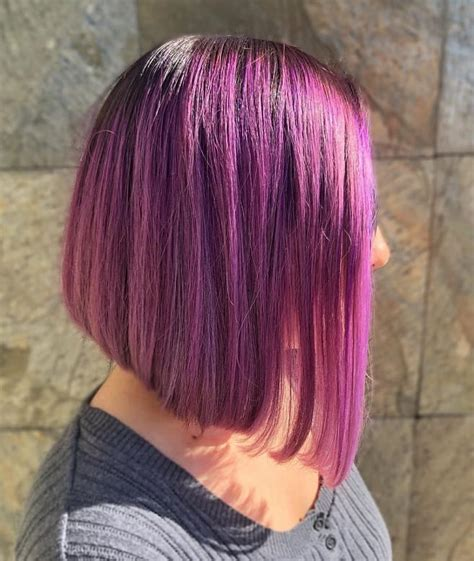 Cute hairstyles picture of tapered bob haircuts, ombre hair/ stackedhair simplicity and natural appeal is the main feature of the simple yet elegant short, bob hairstyle. 7 Superb Purple Ombre Hairstyle for Short Haired Divas ...