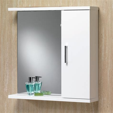 Bathroom Mirrors With Cabinet by Richmond 75 Mirrored Cabinet With Lights Gloss White