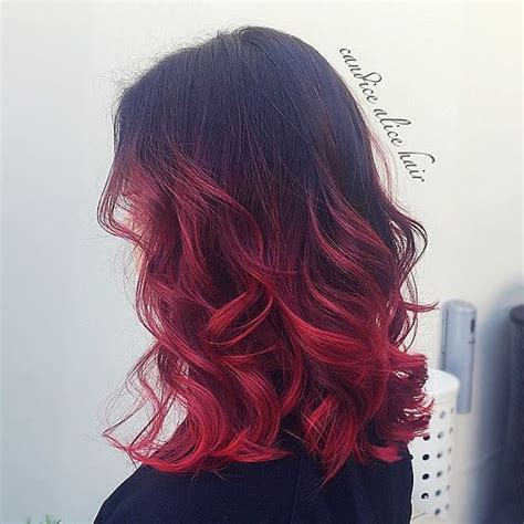 hair inspiration black  red ombre  candicealice