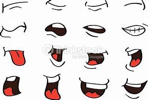 Cartoon Mouth Expressions Vector Designs Isolated On White ...
