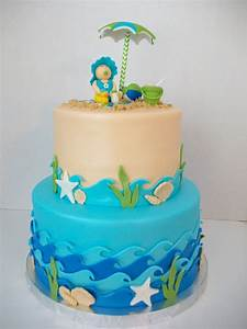 Beach Theme Baby Shower Cake - CakeCentral com