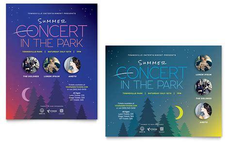 poster samples summer concert poster template design