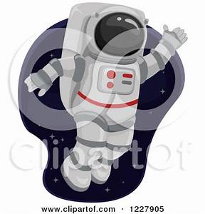 Clipart of an Astronaut Waving and Floating in Outer Space ...