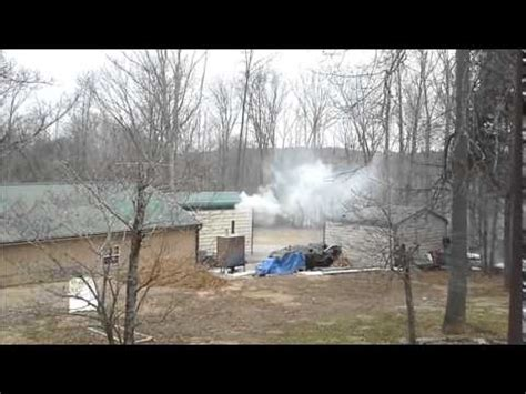 hardy  outdoor wood boiler smoke  youtube