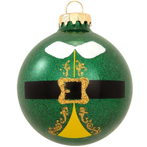 elf suit sparkle glass ornament novelty nostalgia