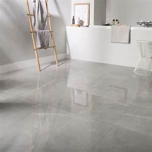 carrelage sol et mur gris effet marbre rimini l30 x l60 With carrelage sol et mur