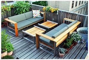 Balkon Lounge Möbel : loungem bel holz balkon ~ Whattoseeinmadrid.com Haus und Dekorationen