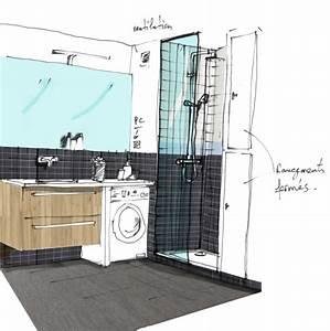 Salle De Bain 5m2 : deco petite salle de bain avec douche meilleures images ~ Dailycaller-alerts.com Idées de Décoration