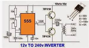 12 Volts To 230 Volts Inverter Circuit