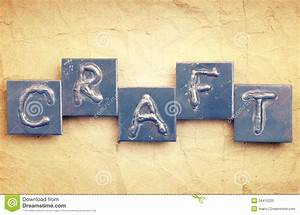 the word craft stock photo image 34415220 With making metal letters