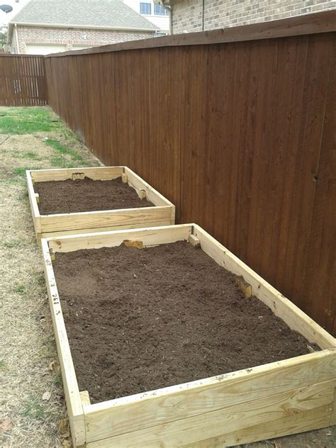 how to build garden boxes build a raised gardening bed home repair dfw plano tx